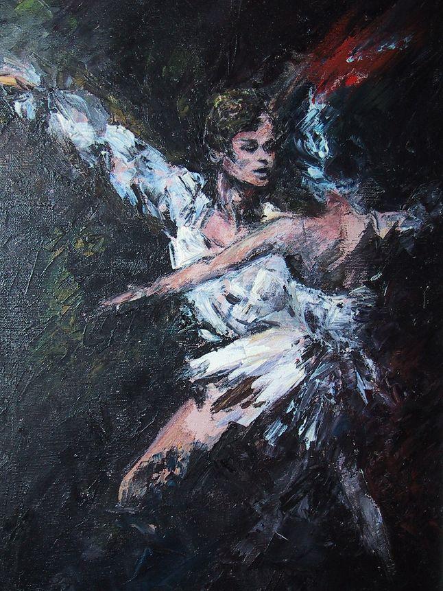 Michaił Barysznikow - na obrazie olejnym Iriny Belotelkin.