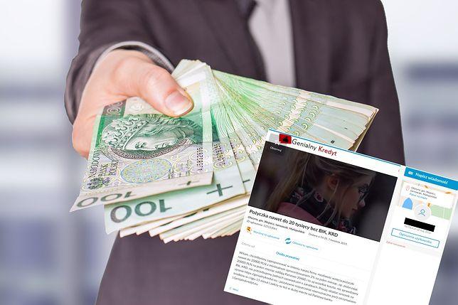 Oferty z pożyczką pojawiały się na portalach z ogłoszeniami.