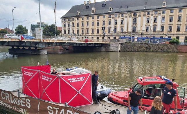 Wrocław. Ciało mężczyzny wyłowione z Odry