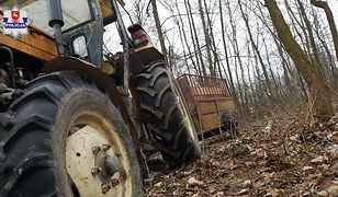 Rolnika przejechał jego własny ciągnik