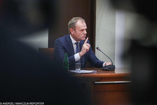 Donald Tusk na posiedzeniu komisji śledczej ds. Amber Gold.