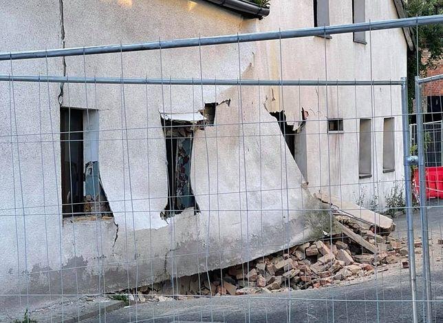 Tarnowskie Góry. Zapadła się ściana restauracji. Mieszkańcy wykonali gest