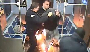 Niebezpieczna sytuacja w metrze. Mężczyzna stanął w płomieniach
