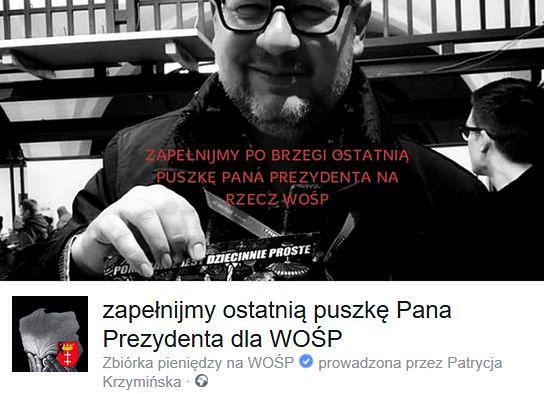 """""""Ostatnia puszka prezydenta Adamowicza"""". Już jest ponad milion zł!"""
