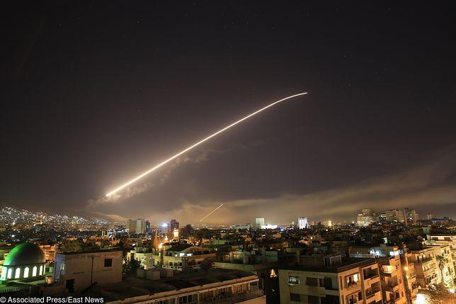 Tak wyglądał USA na syryjskie cele obserwowany z Damaszku