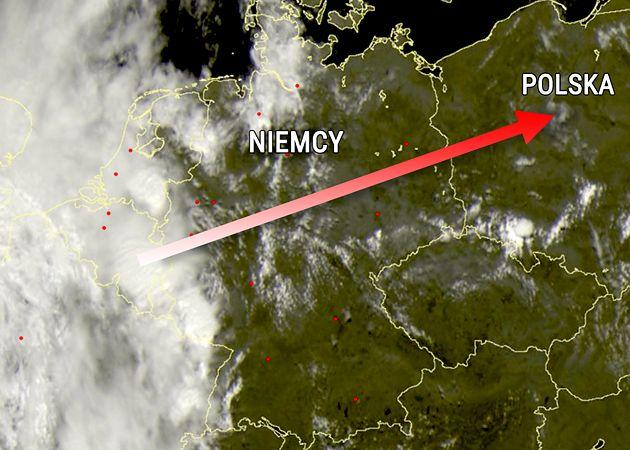 Gigantyczna formacja burzowa idzie nad Polskę