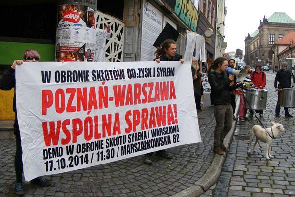 Poznańscy anarchiści solidarni ze skłotem Syrena