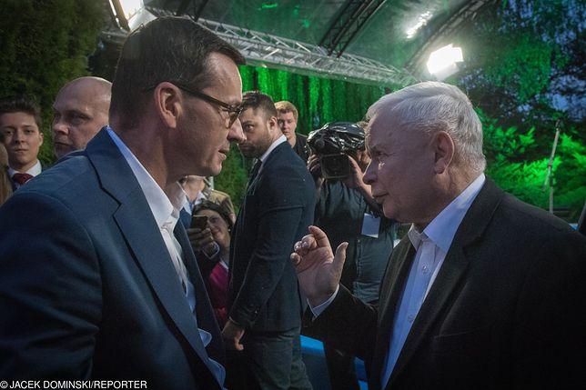 Wybory parlamentarne 2019. Mateusz Morawiecki i Jarosław Kaczyński.