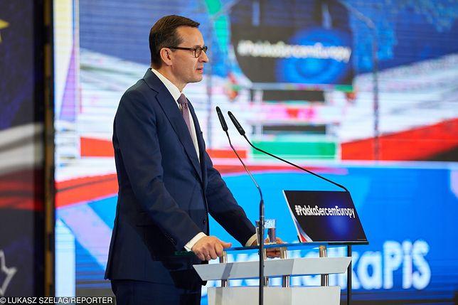 """Premier Mateusz Morawiecki mówił w Łodzi o """"pośmiertnym zwycięstwie Hitlera"""""""