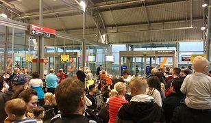 Hala odlotów lotniska w Modlinie
