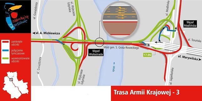 Zmiana na Trasie AK. Otworzą estakadę z Modlińskiej na Trasę Toruńską