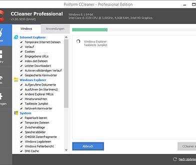 Tak wygląda program CCleaner