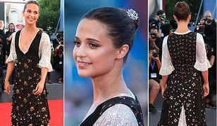 LOOK OF THE DAY: Alicia Vikander w sukience Louis Vuitton