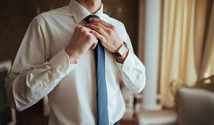 Najpopularniejsze są obecnie krawaty proste i dość wąskie