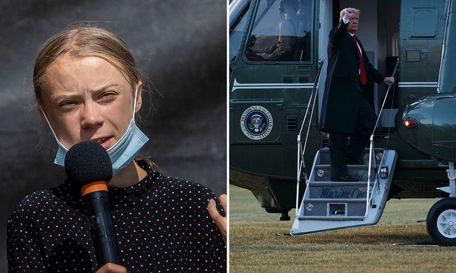 Greta Thunberg odgryzła się Donaldowi Trumpowi