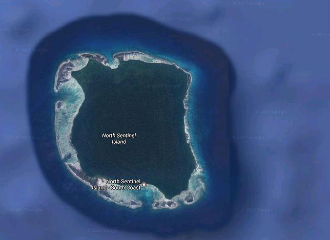 Zamknięta wyspa zamieszkała przez plemię z epoki kamienia: North Sentinel, archipelag Andamany, Ocean Indyjski