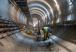Metro. Można już zobaczyć część peronu stacji Kondratowicza