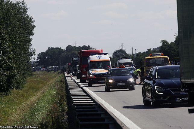 Korek na A4 w kierunku Wrocławia ma już ok. 5 km