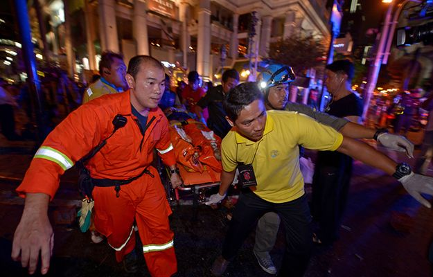 Miejsce tragedii w Bangkoku - są ofiary śmiertelne i wielu rannych