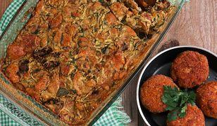 Zapiekanka z cukinii, suszonych pomidorów i czerstwego pieczywa