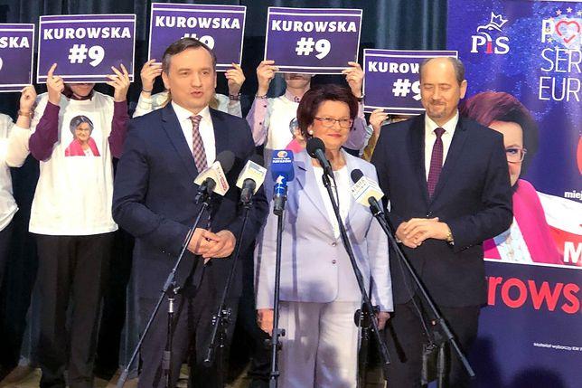 Zbigniew Ziobro i Maria Kurowska podczas konwencji przed wyborami do europarlamentu