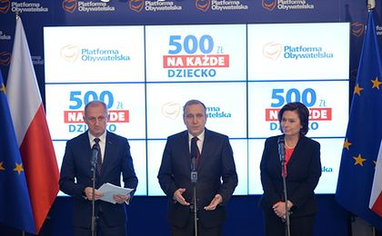 Platforma Obywatelska proponuje 500 zł na każde dziecko