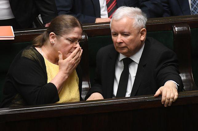 Krystyna Pawłowicz nie wyobraża sobie, że ktoś zastąpi prezesa PiS