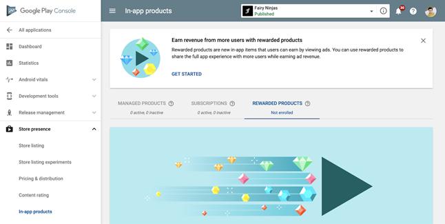 """Nowe narzędzie można znaleźć w Konsoli Play wśród opcji """"Obecność w sklepie"""", źódło: Google."""