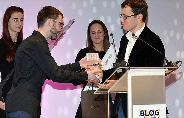 Michał Fedorowicz odbiera nagrodę za Blog Roku 2014