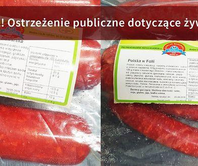 Listeria w kiełbasach z surowego mięsa. Główny Inspektorat Sanitarny wydał ostrzeżenie