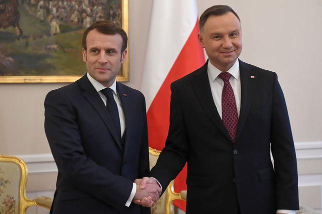 Prezydent Francji Emmanuel Macron zostanie w Polsce do wtorku