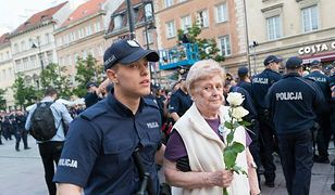 Zatrzymana przez policję 82-letnia pani Iwona