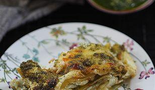 Obłędna lasagne z pesto, ricottą i mozzarellą