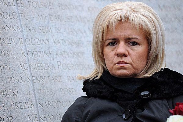 Ewa Błasik, wdowa po dowódcy Sił Powietrznych gen. Andrzeju Błasiku.
