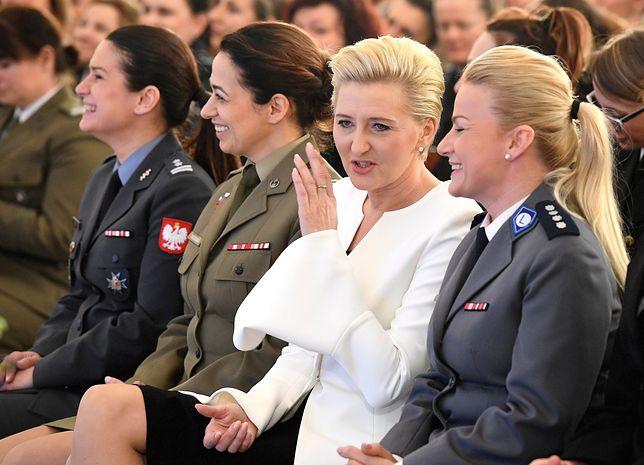 Agata Kornhauser-Duda stwierdziła, że nikogo już nie dziwi kobieta w mundurze