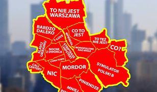 """""""Miasto Słoiczne Warszawa"""". Alternatywna wersja nazw dzielnic stolicy [MAPA]"""