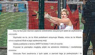 Prezydent pogratulowała Włodarczyk medalu. W odpowiedzi otrzymała ostry list
