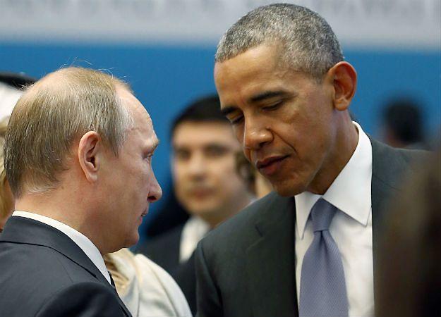 Barack Obama i Władimir Putin podczas szczytu G20 w Turcji