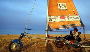 1500 km po pustyni Gobi. Z wiatrem, żaglowozami