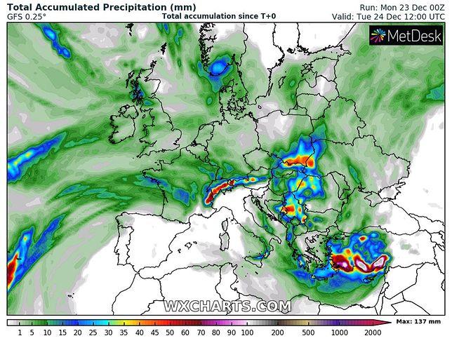 Pogoda. Wigilia w niemal całej Polsce będzie deszczowa