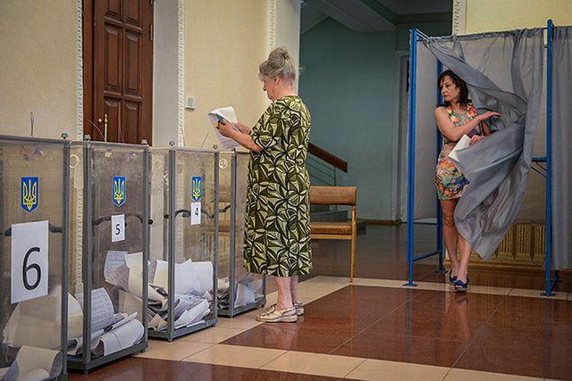 Głosowanie w Mariupolu
