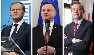 Donald Tusk, Andrzej Duda, Robert Biedroń