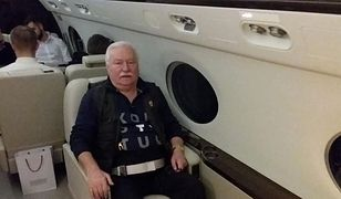 Lech Wałęsa w podróży na pogrzeb G.W. Busha