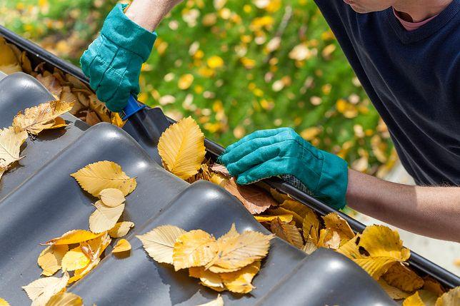 Zapchane rynny mogą uszkodzić dach domu