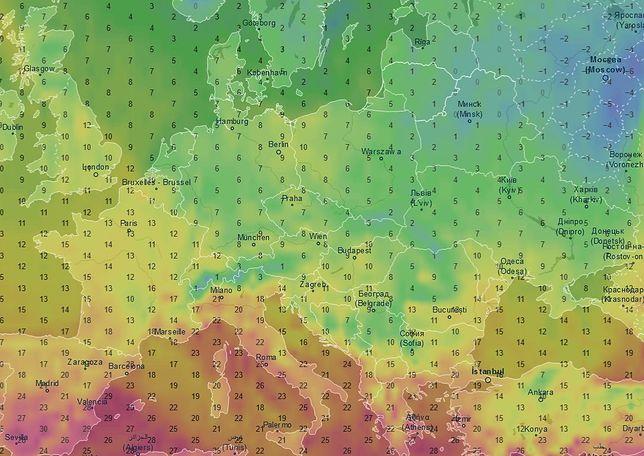 W niedzielę temperatura w ciągu dnia wyniesie od 3 do 9 st. C.