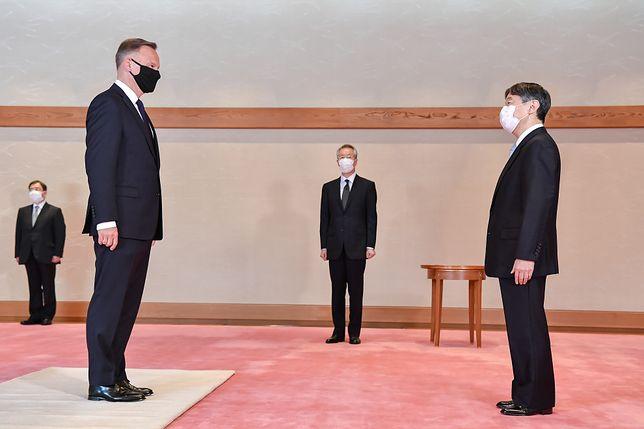 Andrzej Duda w Japonii. Audiencja cesarza Naruhito