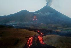 Wulkan Pacaya pluje lawą. Pożary i zniszczone plantacje