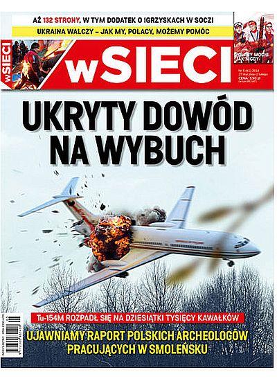 """Najnowsza okładka tygodnika """"w Sieci"""""""