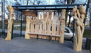 Podczas XI zimowego pleneru artystycznego rzeźbiarze stworzyli oryginalne przystanki