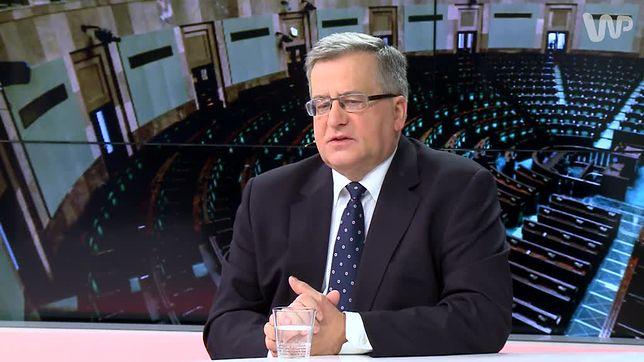 Bronisław Komorowski skrytykował pomysł łączenia pensji poselskiej i ministerialnej
